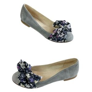 Hego's Suede Bow Scarf Flat Shoes